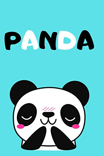 Panda: Notebook: Journal, Diary (110 Pages, Blank, 6 x 9)