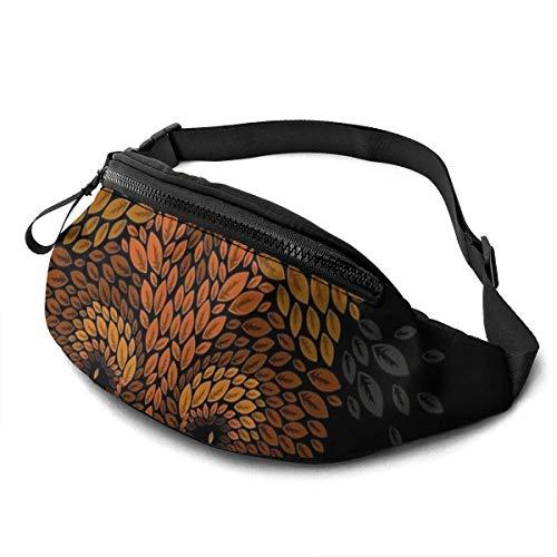 Fox Face Gürteltasche Unisex Taillentasche Gürteltaschen mit großer Kapazität Packs Fashion Casual Taillentasche, kann kleine Gegenstände wie Ausweise aufnehmen und ist auch mit einer Kopfhö