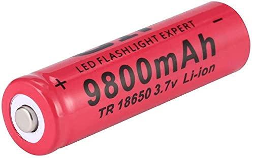Batería de batería de Litio Batería 18650 3.7V 9800mAh, Recargable más de 1000 Veces,-8pcs