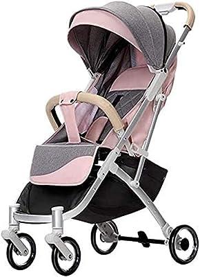 Cochecito de bebé, buggy, cochecito de bebé Carro 360 Rotación 2-en-1 Resistente a los golpes de alto paisaje para recién nacidos y niños pequeños -Travel System shotchair negro (Color : Pink)