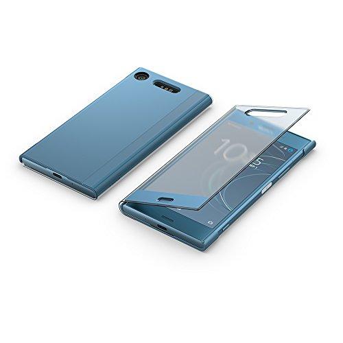 "Sony ""Style Cover Touch SCTG50 Bookcover mit transparentem Displayschutz für Xperia XZ1, Blau"