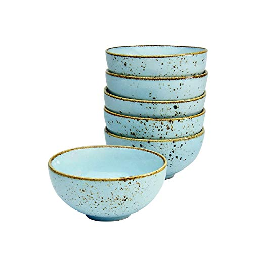 Creatable, 6-er Dipschale 11,5 cm, Nature Collection, LIGHTBLUE 22090, Steinzeug, blue