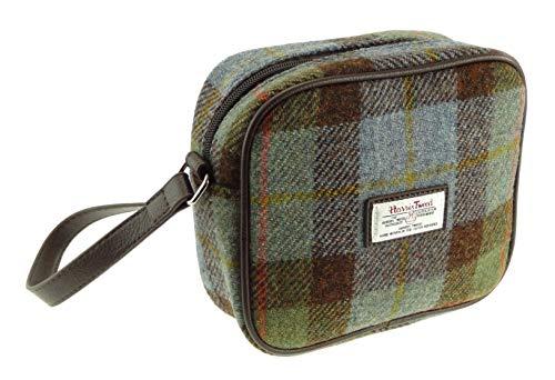Harris Tweed Ladies Square Mini Bag Almond LB1210, Verde
