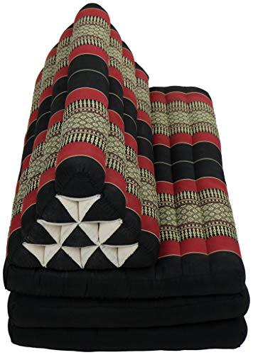Fine Asianliving Thaikissen Dreieckskissen 3 Auflagen Kapokfüllung XXXL 80x190cm Thai Kissen Meditation Matte Matratze Kapok 301-N01