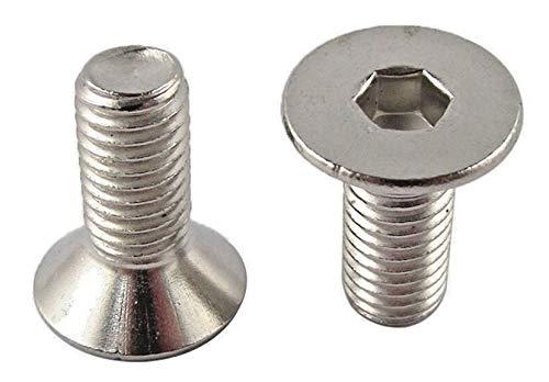 StLlion M10 Boulons à tête hexagonale en acier inoxydable A2 avec filetage – DIN 7991