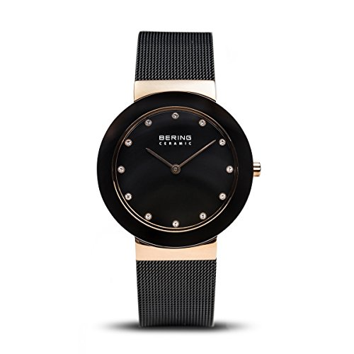 BERING Damen-Armbanduhr Analog Quarz Edelstahl 11435-166