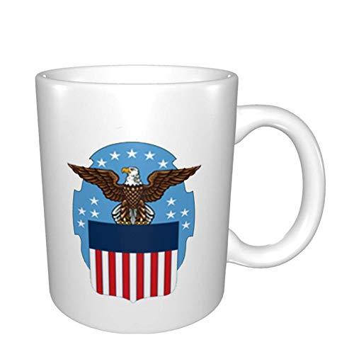 Defense Logistics Agency Logo Bright Multi Grandes tazas de porcelana para café, té, cacao tazas de cerámica de 325 ml