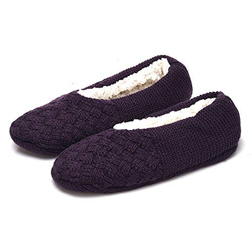Relaxso Microwavable SPA Slippers, Wool-Blend Byzantine