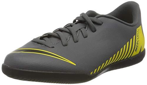 Nike Vaporx 12 Club Gs Ic, Zapatillas de Fútbol Unisex Niños, Gris (Dark Grey/Black/OPTI Yellow 070), 38 EU