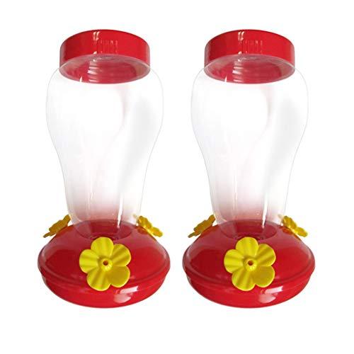 1/2Pcs Mangeoire pour colibris avec 3 Ports d'alimentation de Fleurs - Les mangeoires pour colibris pour l'extérieur comprennent 2 mangeoires de Poche pour colibris Serria