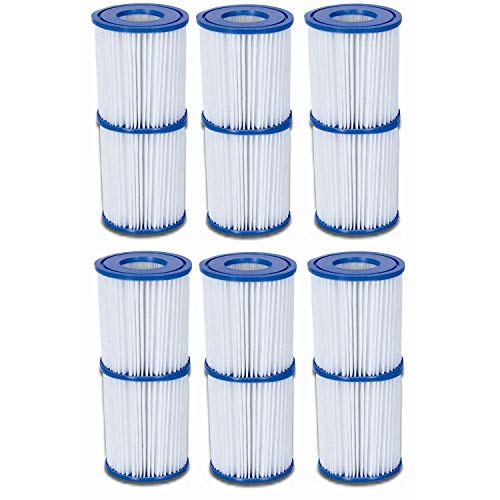 Bestway Global Holding Inc. 12 cartucce filtranti, Misura II, Ø 10,6 cm x 13,6 cm, 6 x Set da 2