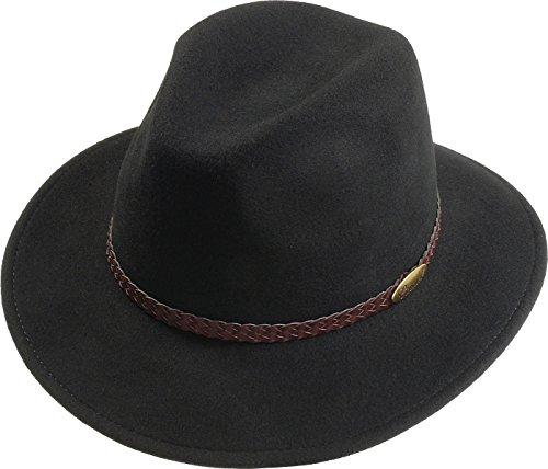 rollbarer Hut in 3 Farben, Kopfgroesse: 55, Schwarz