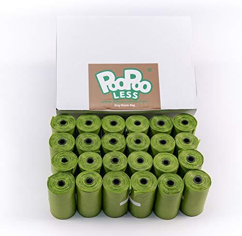 PooPooLess - Sacchetti biodegradabili per bisogni dei Cani, 480 unità