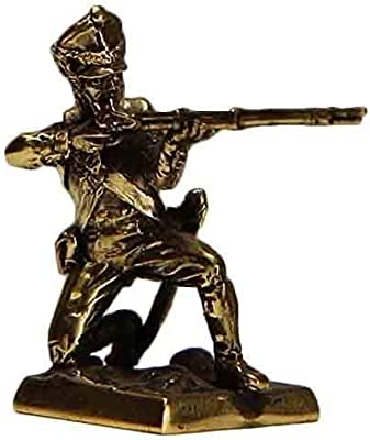 CTOC Soldier of The 17th Jaeger Regiment Bronze Statuette Russian Imperial Army of 1812 Series Handmade Military Historical Miniature 40 mm Collection Figurine Metal Toy Soldier min50