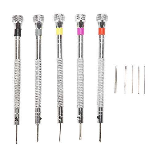 TMISHION Destornillador, 5 unids Destornilladores de precisión relojero Herramientas de reparación
