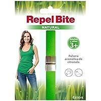 REPEL BITE NATURAL ADULTO pulsera citronela. Pulsera AntImosquitos. Ajustablepara muñeca y tobillo. Resistente al agua. Duración 3 semanas.