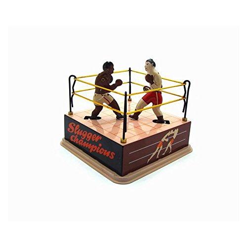 VIDOO Reloj Vintage Clásico Viento Boxeo Ring Boxeadores Hijos Niños Juguetes De Hojalata con Llave