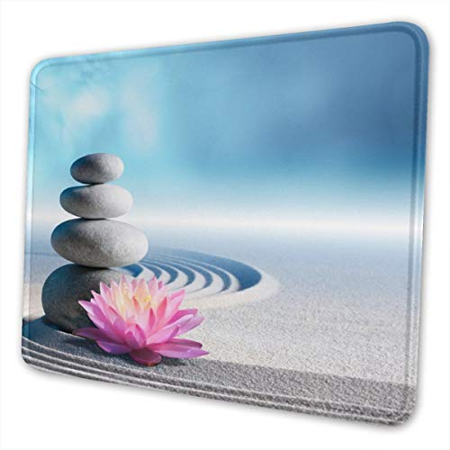 Gaming Mouse Pad - Spa Stones in Zen Rectangle Rubber Mousepad - 10 X 12 Inch X 0.12''(3mm Thick) Mouse Mat for Gift Support Wired Wireless Or Bluetooth Mouse
