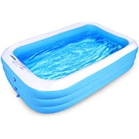 Lunvon Family Inflatable Swimming Pool (120