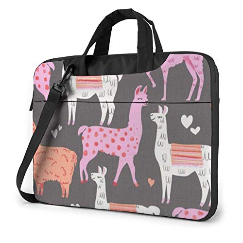Llama Alpaca Laptop Sleeve Case 15.6 Inch Computer Tote Bag Shoulder Messenger Briefcase for Business Travel