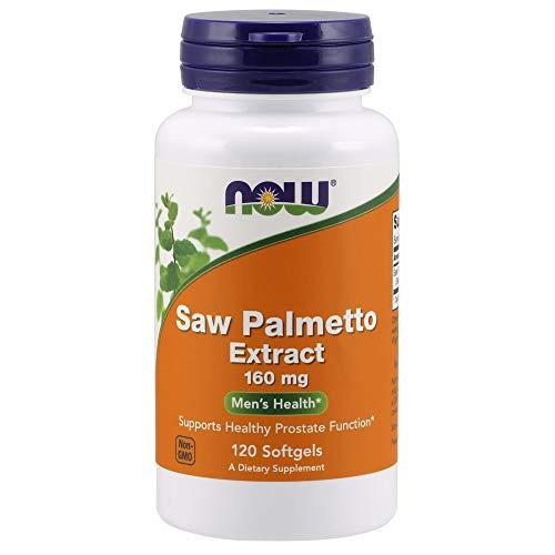 NOW Supplements, Saw Palmetto Extract (Serenoa repens) 160 mg, Men's Health*, 120 Softgels
