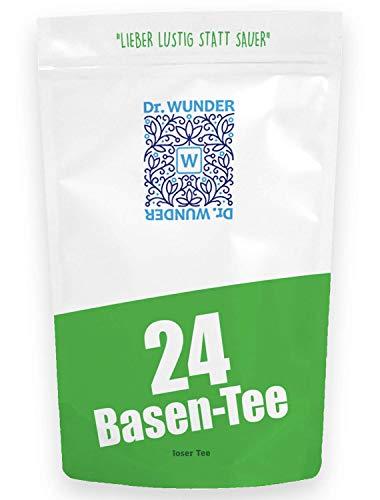 Dr. Wunder 24-Basen-Tee 160g: Säure-Basen-Regulation mittels 24 ausgewählter Basen-Kräuter || effektiver Basenausgleich im Alltag || für Entschlackungs- und Entgiftungskuren || Apotheken-Qualität