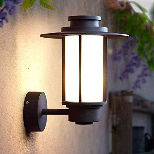 Sconce Wandlamp Helder Outdoor Waterdichte Wandlamp Aisle Balkon Patio Deur Glas Industriële Outdoor Dorp Wandlamp Zwart 24x31x27cm Wandlampen