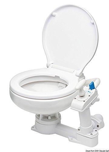 Osculati WC manuale tavoletta in plastica (Compact Manual Toilet Plastic Board)