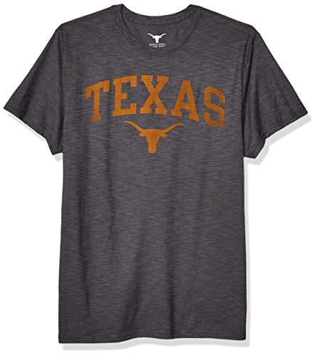 NCAA Texas Longhorns Mens Worn Arch Tri-Blend Short Sleeve Tee Medium Texas Orange