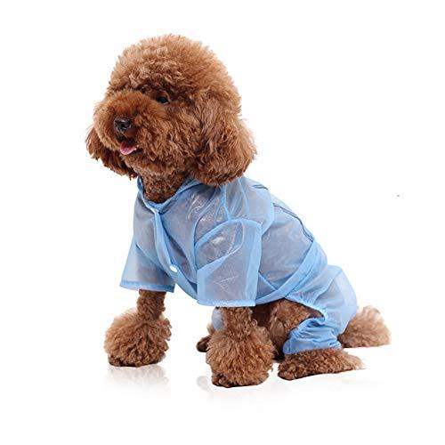 Fushida Wasserdichter Hunde-Regenmantel für kleine, mittelgroße und große Hunde, 4 Füße, leichte reflektierende Jacke, Sicherheitshemd, Outdoor-Jacke, Jagd, Wandern, Bekleidung für nasse Tage