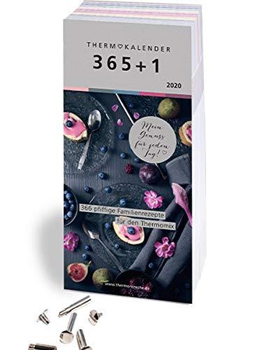 Thermokalender 365+1: Der Abreiss-Rezeptkalender 2020 für den Thermomix® I TM5® I TM31 I TM6 mit 366 Rezepten, inkl. Buchschrauben zum Sammeln der Lieblingsrezepte