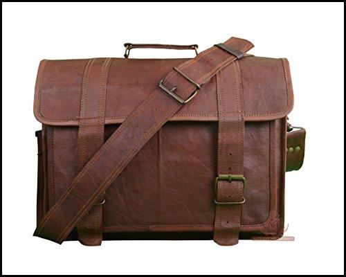 Handmade Buffalo Hunter Leather Laptop Messenger Bag Office Briefcase Office Bag College Bag for Men and Women