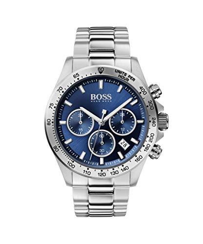 Hugo Boss Herren Chronograph Quartz Uhr mit Edelstahl Armband 1513755