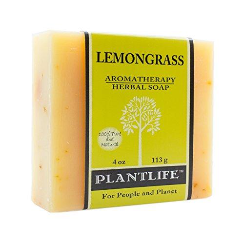 Plantlife Lemongrass 100% Pure & Natural Aromatherapy Herbal Soap- 4 oz (113g)