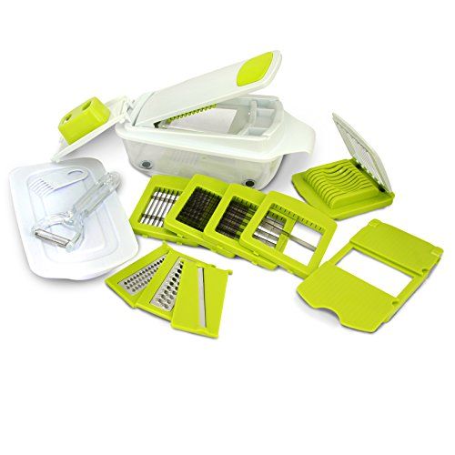 MegaChef 8in1 MultiUse Slicer Dicer and Chopper Kitchen MultiUse Tool Mandoline Vegetable and Fruit Peeler and Soft Slicer