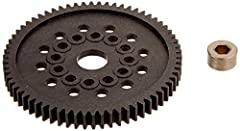 Optional Traxxas spur gears allow you to increase or decrease the final drive ratio and tune for different applications Tough nylon construction for high-power applications Includes bushing Use Traxxas stock and hop-up replacement parts to get the mo...