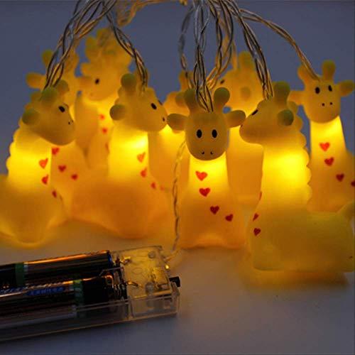 Geen brand mooie mini-dier-nachtlampje fee string licht nachtlampje batterij voor decoratie cadeau 10LED giraffe