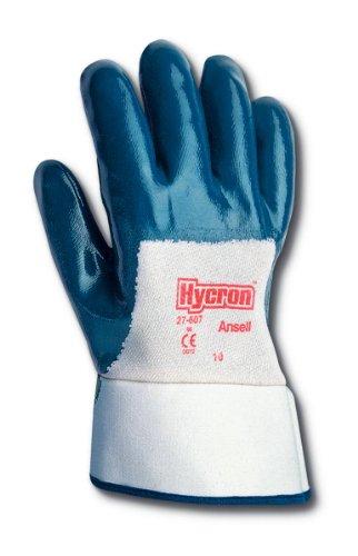 Ansell ActivArmr 27-607 Guanto Oleorepellente, Protezione Meccanica, Blu, Taglia 9 (12 Paia)