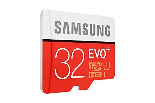 Samsung MicroSDHC 32GB EVO Plus UHS-I Grade 1 Class 10 Speicherkarte, für Smartphones und Tablets, mit SD Adapter - 4
