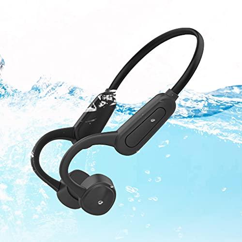 Auriculares Inalambricos de Natación Cascos Bluetooth 5.0 de Conducción ósea, IPX8 Impermeable 16GB Reproductor de MP3 de Natación, Auriculares Estéreo Deportivos Correr para Niños Adultos Black