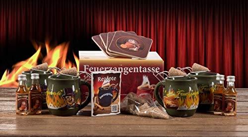 Feuerzangentasse 4er-Set, Oliv/Rühmann (mit Rum) - für Feuerzangenbowle