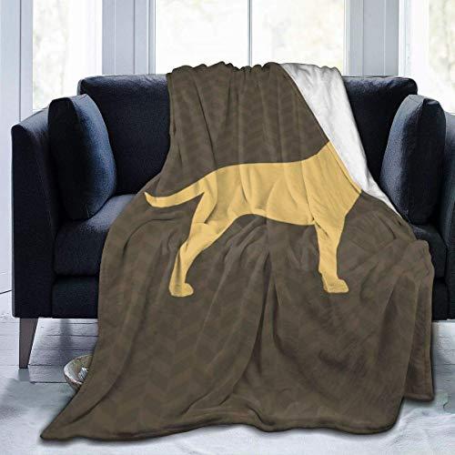 Retriever - Manta de felpa para perro Labrador Retriever (3 tamaños), color marrón