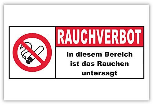 SCHILDER HIMMEL anpassbares Rauchen verboten Schild 21x15cm Alu-Verbund mit Klebestreifen, Rauchverbot Nr 88 eigener Text/Bild verschiedene Größen/Materialien