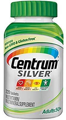 Centrum Silver - Tablet de suplemento multivitamínico/multimineral para Adultos, Vitamina D3, a Partir de 50 años