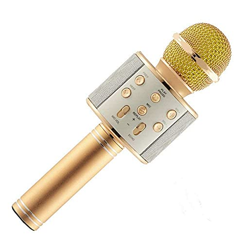 SUPER TOY Karaoke Wireless Bluetooth Speaker Mic Microphone with Audio Recording Function
