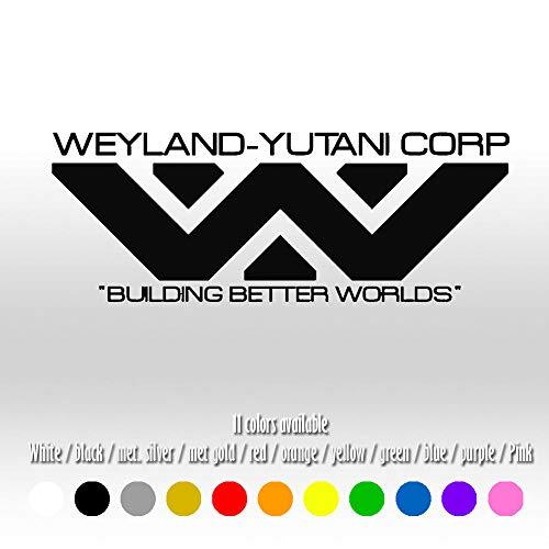 "ShopForAllYou Stickers & Decals (Color Matte Black) 8"" Weyland-Yutani Corporation Alien Car Window Diecut Vinyl Decal Sticker"