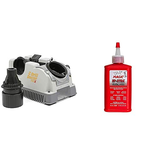 Drill Doctor 750X Drill Bit Sharpener & Forney 20857 Tap Magic Industrial Pro Cutting Fluid, 4 oz
