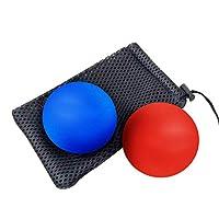 マッサージボール、ラクロス足エクササイズマッサージャーはトリガーポイントの深い筋肉筋膜解放足と背筋の筋肉回復筋膜ヘルシーボールヨガマッサージフィットネス機器をトリガーするのに役立ちます
