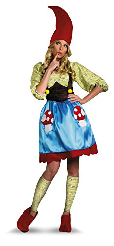 Disguise Women's Ms. Gnome Costume, Blue/Green/Red, X-Large