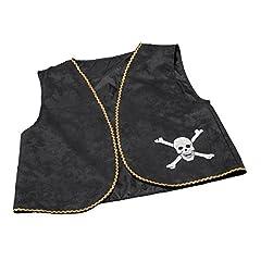 Pirate Waistcoat Black Distressed The Perfect Pirate Accessory Includes Pirate Waistcoat